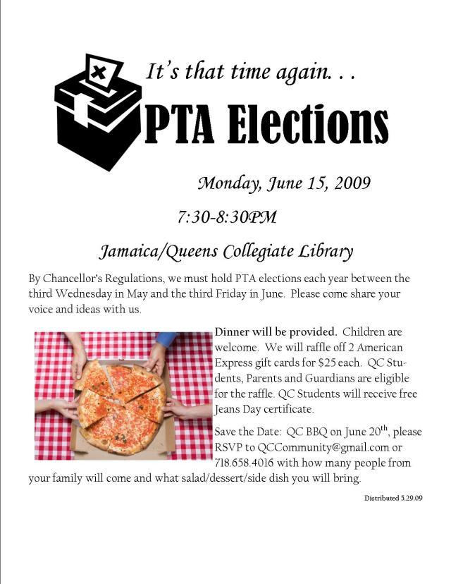 flyer PTA elections